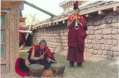 Musical instruments given by Chogyal Phagpa
