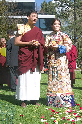 Khondung Gyana Vajra Rinpoche with his wife, Dagmo Sonam Palkyi