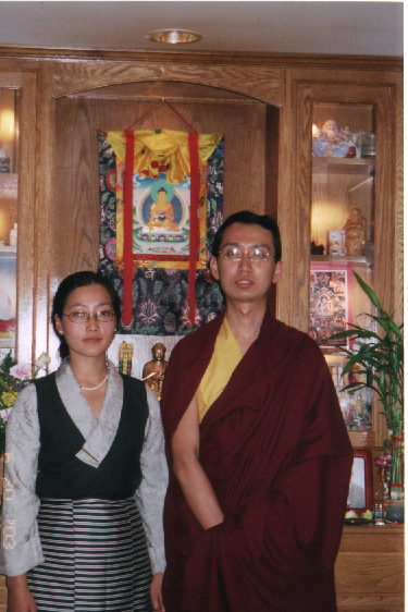 Khondung Ratna Vajra Rinpoche with his wife, Dagmo Kalden Dunkyi