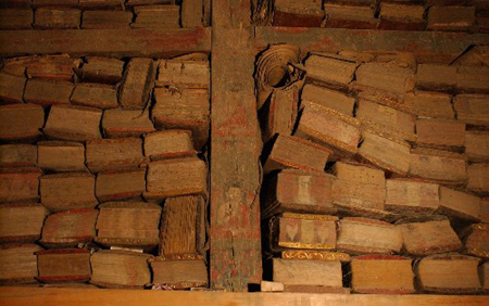 Hidden library of Sakya Monastery